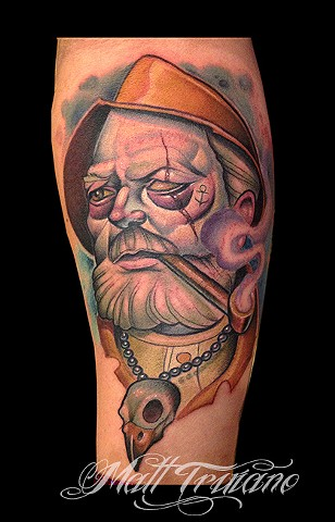 sailor fisherman old man neotraditional new school color tattoo matt truiano