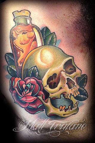 neo traditional skull rat tattoo matt truiano