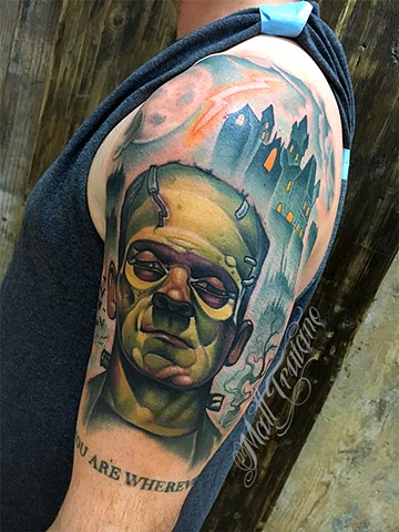 neotraditional color tattoo matt truiano frankenstein