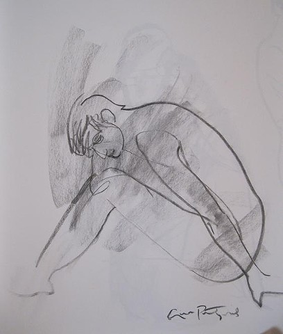 figure drawings in charcoal