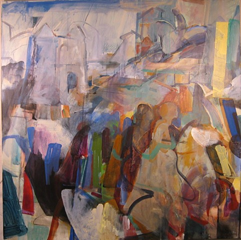 abstract, figures, landscape