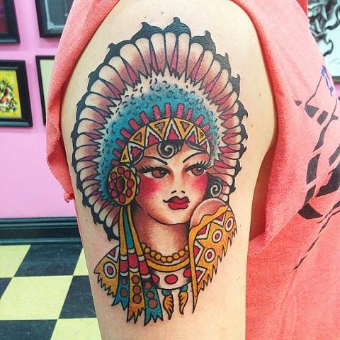 Sailor Jerry Indian Girl