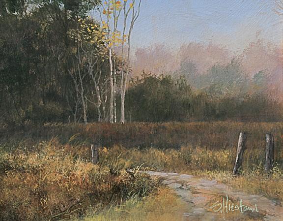 Florida Trees Wekiva Springs Acrylic painting Scott Hiestand