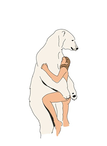 'Youth with Bear' from 'Polar Fuck' series