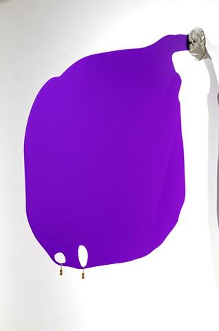'Looming Purple Blob with Bangles/Earrings'