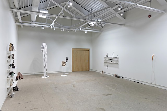 installation view 'turn that brown upside down'