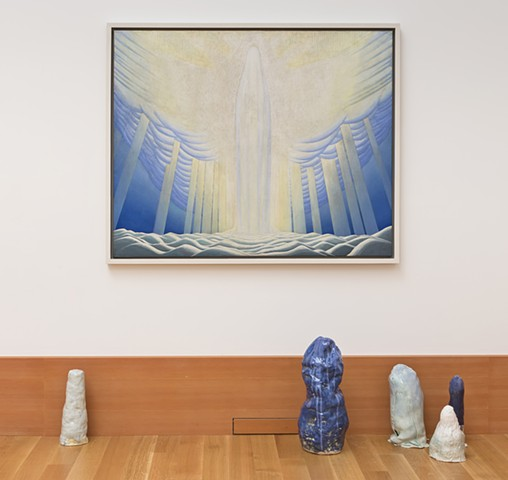 installation view: Blobs for Lawren Harris's Glaciers, Icebergs, and Unknown Things