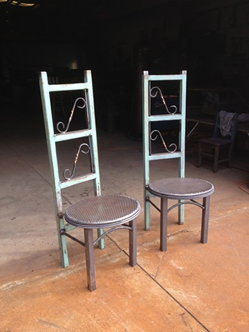 Found Object Chairs by Thomas Prochnow
