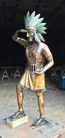 Cigar Store Indian in Bronze   Thomas Prochnow Studio