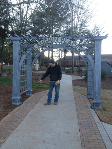 Uncle Remus Regional Library entrance trellis by Thomas Prochnow