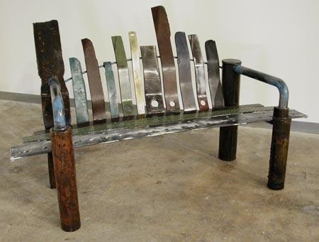Found Object Bench by Thomas Prochnow