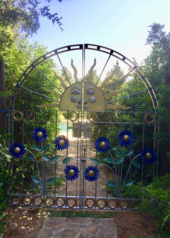 hand forged steel gates by Thomas Prochnow