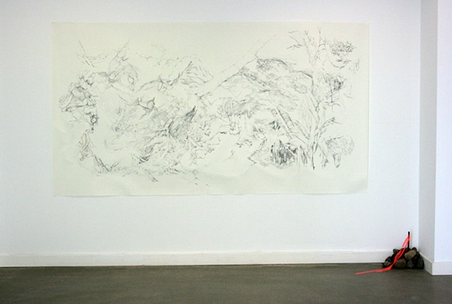 "Installation view of ""Sliding Forest"""