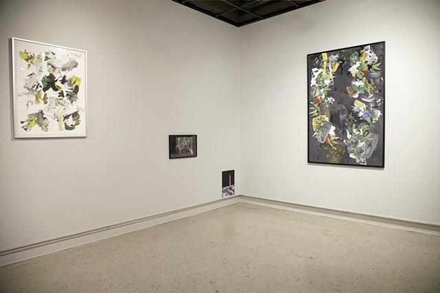 "Installation View: ""Woodland Conglomerate"" and ""Far Afield"""