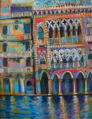 'PALAZZO IN PURPLE' Sold