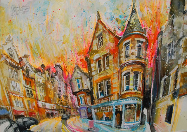 'CURVES & CORNERS ON COCKBURN STREET' Sold