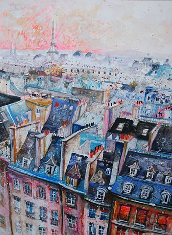 'ROOFTOPS & RIPPLES, PARIS'