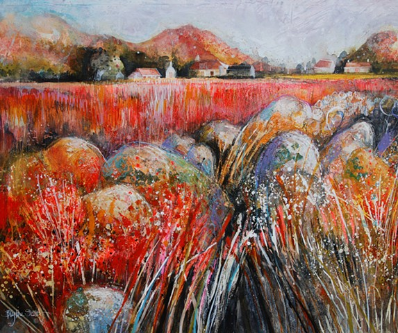 'FIELD ON FIRE' Sold
