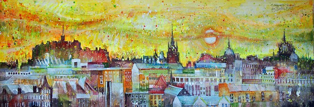 'EDINBURGH SKYLINE' Sold