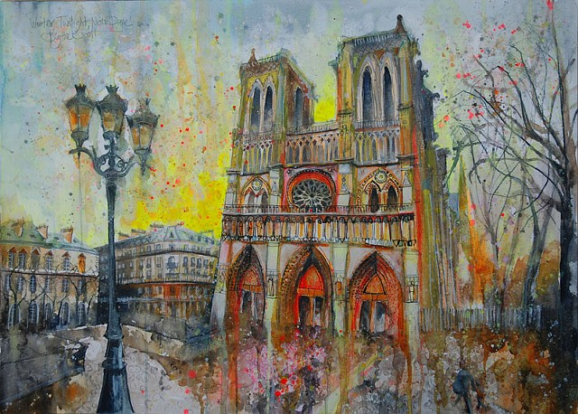 'WINTER TWILIGHT, NOTRE DAME, PARIS'