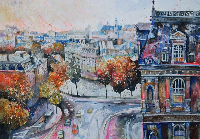 'TURNING LEAVES, PARIS' Sold