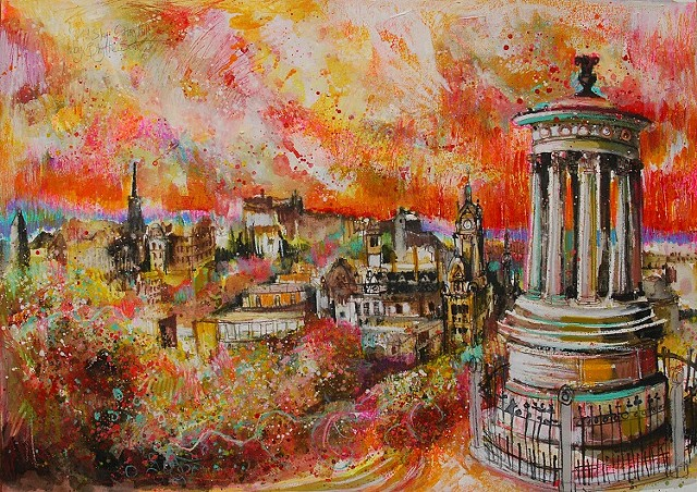 'WILD SKY, CALTON HILL, EDINBURGH'