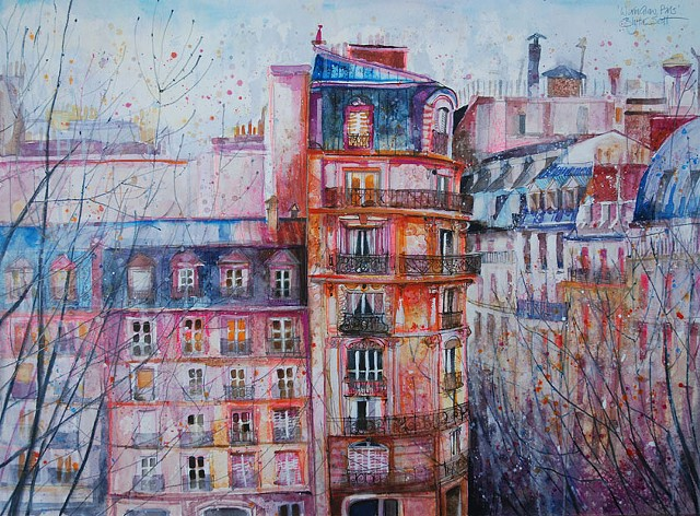 'EVENING GLOW, PARIS'