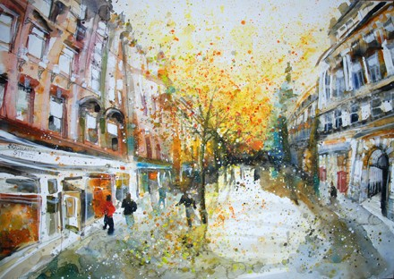 'FALLING LEAVES, BUCHANAN STREET'
