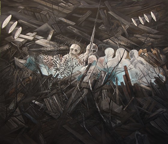 Ship of Fools, 300x300 cm