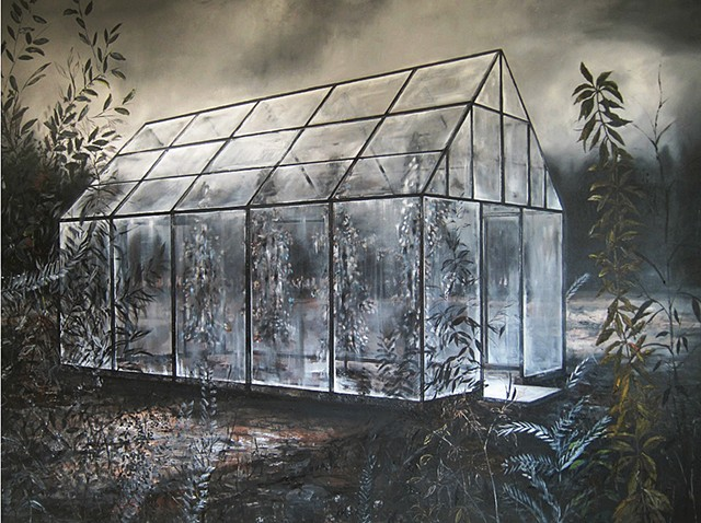 greenhouse painting