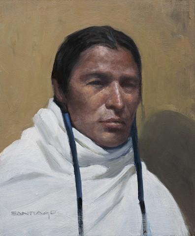 Portrait of a Pueblo Man 12x10 oil