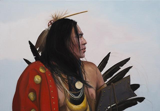 Native Vision 27.5 x 39.75 oil  SOLD