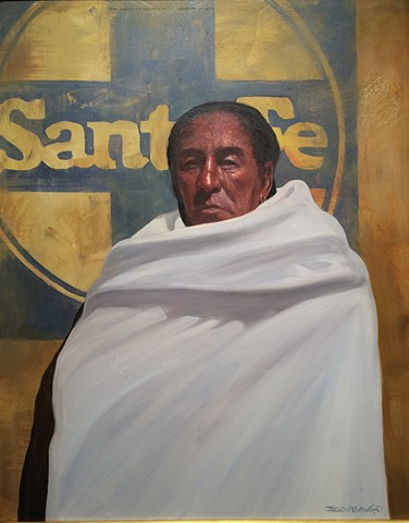 RETURN TO SANTA FE 20X16 oil