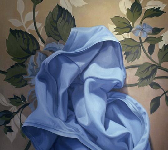 Blue on Wallpaper