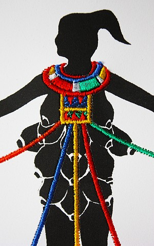 Embroidery, Polymer print, Collage, drawing, give and take tree, shervone neckles, printmaking, black artist, new york artist, Brooklyn artist, queens artist, Grenada, fiber artists, book artist, shervone neckles-ortiz, story-telling, caribbean artist, sy