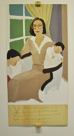 'Mom in the 80s', 2013 Acrylic on panel 48 x 24 inches
