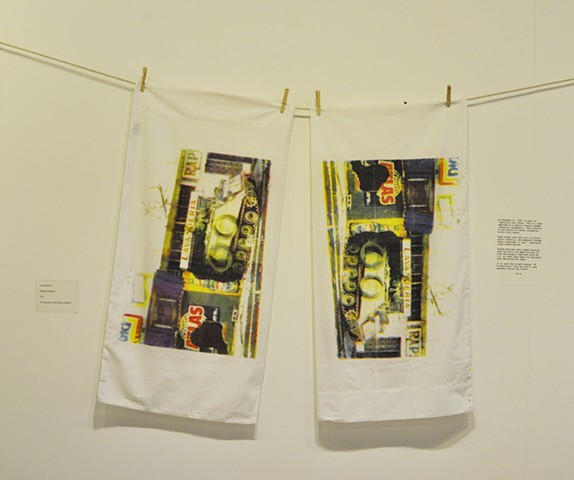 'Operation Lavanderia', 2013 4C screen prints on cotton, installation dimensions variable