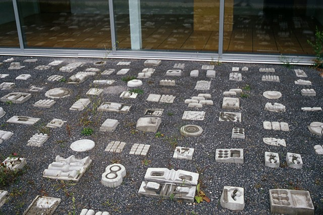 concrete casting, mapping, consumerism, interactive, out door, in door installation