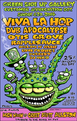 poster for Green Side Up Gallery 420 Customer Appreciation Day