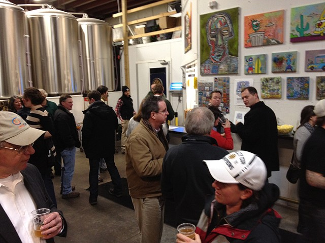 Opening Reception at Cape Cod Beer Brewery for Bier de Mars