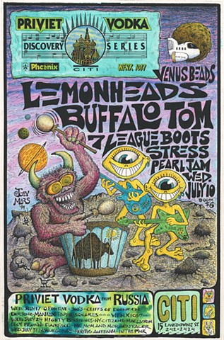 Lemonheads, Buffalo Tom, 7 League Boots, Stress, Pearl Jam, Venus Beads