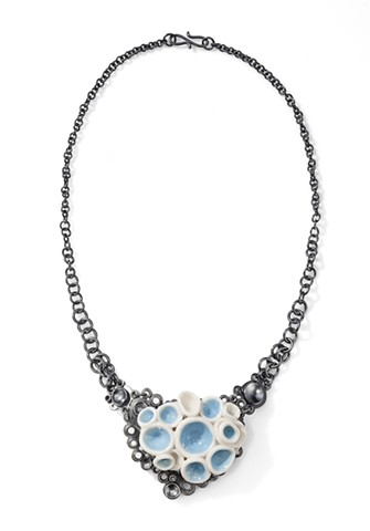 "Heather Croston ""Sea Born"" Necklace, sterling silver and porcelain"