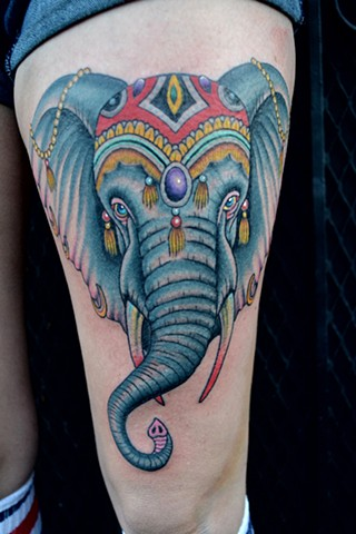 circus elephant tattoo...