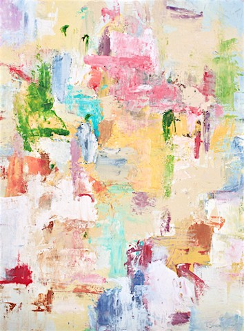 Abstract painting, large contemporary abstract painting from Sarasota Florida artist Lori Simon, saks fifth avenue, saks fifth avenue sarasota, saks fifth avenue sarasota UTC mall