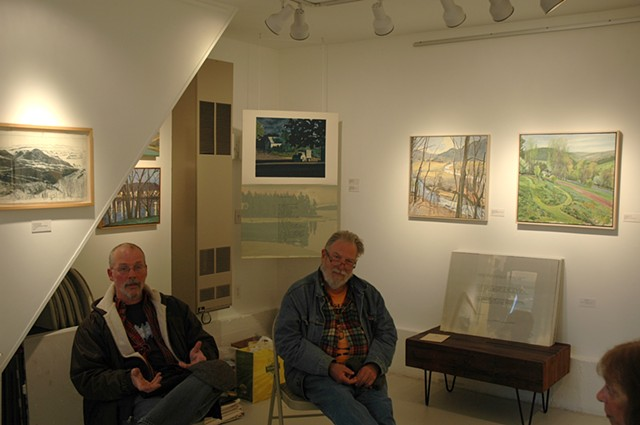 Fred Lowe and Richard McIntyre at Schmidtberger Fine Art opening