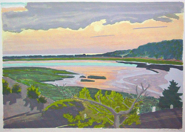 based on an oil sketch of Wellfleet, MA wetlands