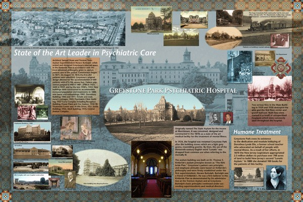 Greystone Park Pictorial History: Four porcelain murals