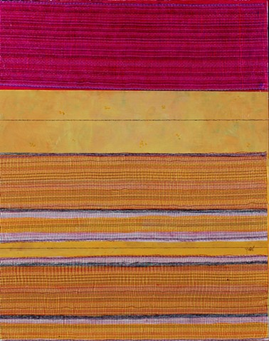 mixed media, acrylic, collage, works on paper, colorful, cheerful, contemporary, minimal, dramatic, magenta, orange, texture, pattern