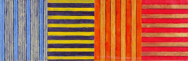 red, orange, cheerful, abstract, stripes, sunny