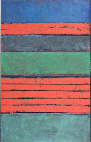 canvas, paper, vivid color, deep green, black, red, rich color